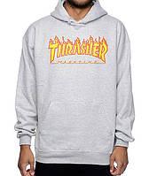 Толстовка с принтом Thrasher Flame logo | кенгурушка