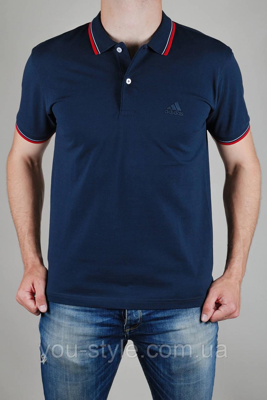 Футболка мужская  Adidas Тёмно-синяя