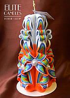 Різьблена свічка ручної роботи, для подарунка коханим