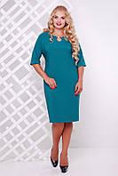 Платье нарядное Олли бирюза 50,52,54,56,58р, фото 1