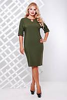 Платье нарядное Олли оливка 50,52,54,56,58р, фото 1