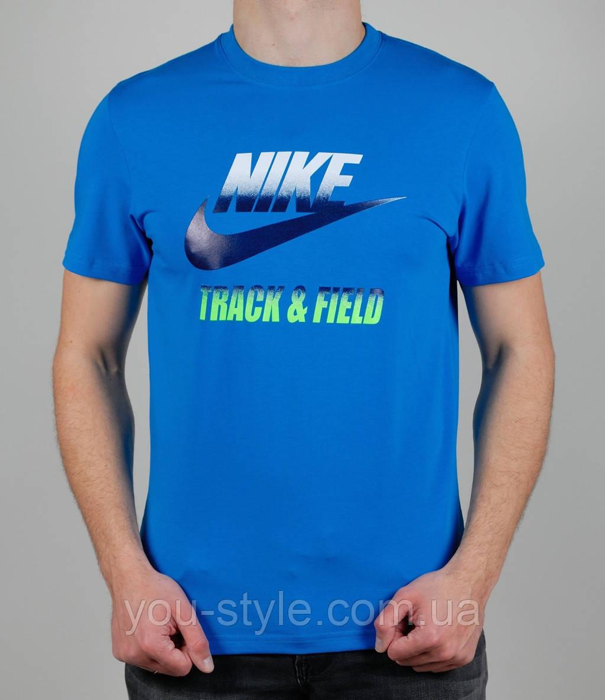 Футболка мужская Nike Track&Field Голубая