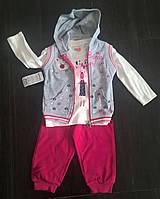 """Костюмчик для девочки """"Мишка девочка"""" (кофта+штаны+жилетка )на 1-3 года"""