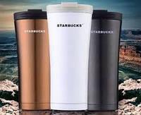 Термокружка с поилкой - Starbucks (Старбакс) 500 мл Белый, Черный, Олива