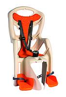 Сиденье задн. Bellelli B1 Standart до 22кг, бежевое с оранжевой подкладкой