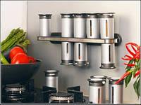 Набор контейнеров для специй Gravity Magnetic Spice Rack Zevgo 12 шт