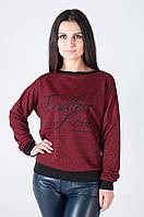 Молодежная женская трикотажная кофточка бордового цвета