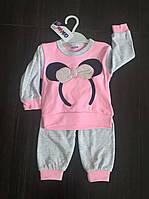 """Пижама(костюм) для девочки """"Обруч Минни"""" (кофта+штаны )на 9, 12,18мес"""