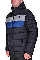 Зимняя куртка Adidas мужская 2200 Темно-синяя, голубая