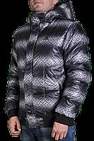 Зимняя куртка Adidas мужская 2214 Темно-серая