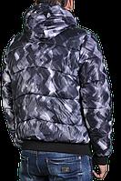 Зимняя куртка Adidas мужская 2215 Темно-серая