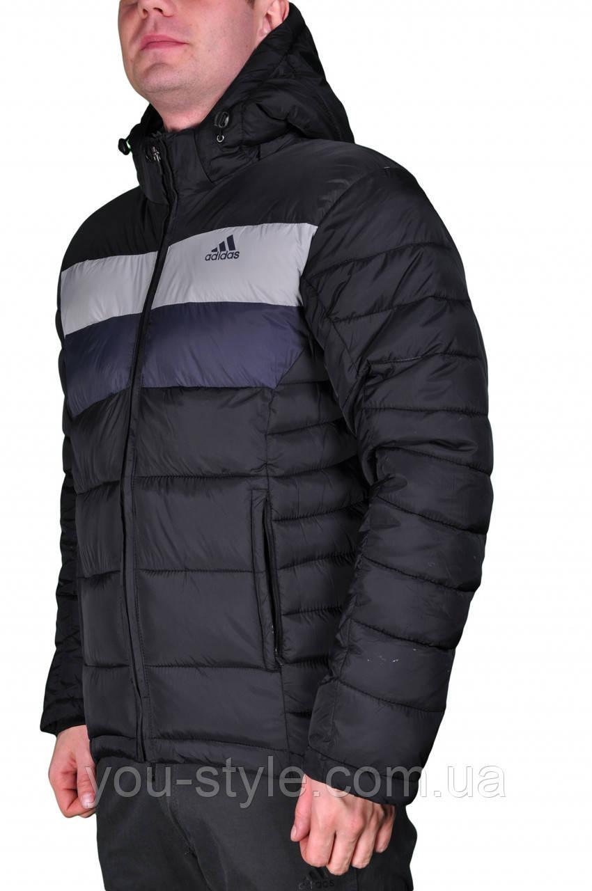 a0021b4b Зимняя куртка Adidas мужская 2198 Черная - Интернет магазин