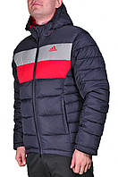 Зимняя куртка Adidas мужская 2199 Темно-серая, красная