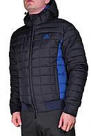 Зимняя куртка Adidas мужская 2201 Темно-синяя