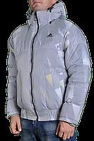 Зимняя куртка Adidas мужская 2217 Светло-серая