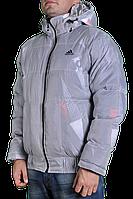 Зимняя куртка Adidas мужская 2218 Серая