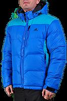 Зимняя куртка Adidas мужская 2204 Голубая
