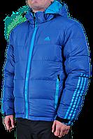 Зимняя куртка Adidas мужская 2205 Голубая