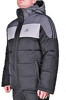 Зимняя куртка Adidas мужская 2208 Черная