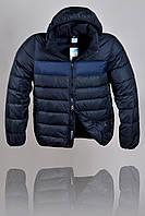 Пуховик Nike 2229 Темно-синий, черный