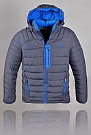 Куртка зимняя Adidas 2262 Тёмно серая
