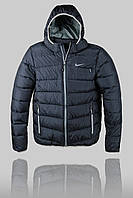 Мужской Пуховик Nike 2721 Чёрный