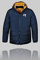 Зимняя мужская спортивная куртка Reebok 3162 Тёмно-синяя