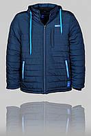Зимняя мужская спортивная куртка Reebok 3167 Тёмно-синяя