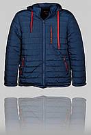Зимняя мужская спортивная куртка Canada 3163 Тёмно-синяя