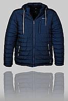 Зимняя мужская спортивная куртка Porsche 3165 Тёмно-синяя
