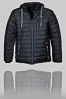Зимняя мужская спортивная куртка Porsche 3166 Чёрная