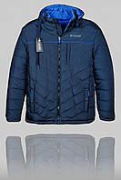 Зимняя мужская куртка Columbia 3168 Тёмно-синяя