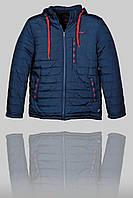 Зимняя мужская спортивная куртка Nike 3164 Тёмно-синяя