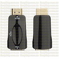 HDMI в VGA адаптер конвертер переходник на аудио звук с to видео T2 xbox