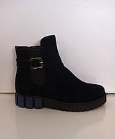 Женские ботиночки замшевые код 1095