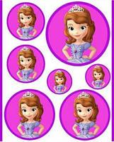 Вафельная картинка для тортов Принцесса София 56