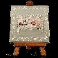 """Набор-мини для вышивания бисером с мольбертом """"Любимый диван"""""""
