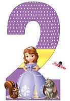 Вафельная картинка для тортов Принцесса София 57