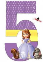 Вафельная картинка для тортов Принцесса София 58