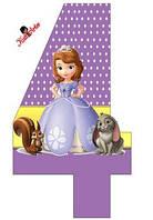 Вафельная картинка для тортов Принцесса София 59