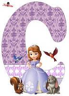 Вафельная картинка для тортов Принцесса София 60