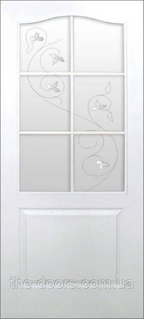 Двери ПВХ Классика с контурным рисунком