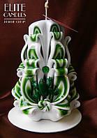 Зеленая свеча, для подарка любимым, и магического ритуала привлечения денег