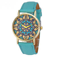 """Оригинальные модные женские часы """"Arabica"""", голубые"""