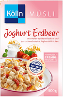Kölln Müsli Joghurt Erdbeer - Мюсли с клубникой и йогуртом, 500 г