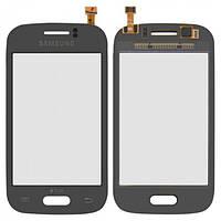 Сенсор (тачскрин) Samsung S6310 Galaxy Young, S6312 Galaxy Young Duos серый