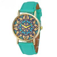 """Оригинальные модные женские часы """"Arabica"""", бирюзовые"""