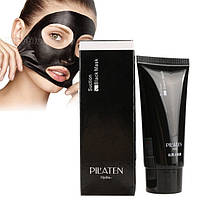 Черная маска-пиллинг для лица - Suction Black Mask PILATEN (против черных точек)