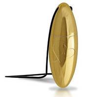 Золотистый кулон вибро-пуля Rocks-Off Ro-Val