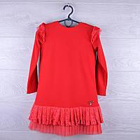 """Детское нарядное платье """"Золушка"""".  5-8 лет. Красное. Оптом."""